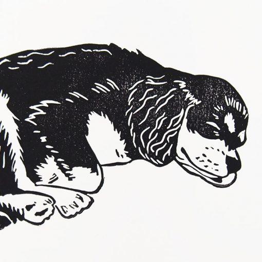Zuzana Milánová - Sleep, 18x13 / linoryt grafika