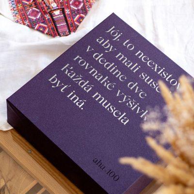AHA 100 - Folklórne výšivky / box s grafickými listami
