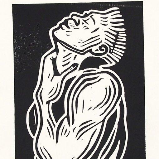 Chiara Némethová - Bulky, 25x18 / linoryt grafika