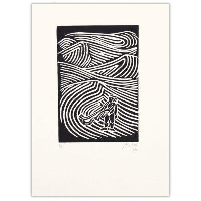 Chiara Némethová - Duna, 25x18 / linoryt grafika