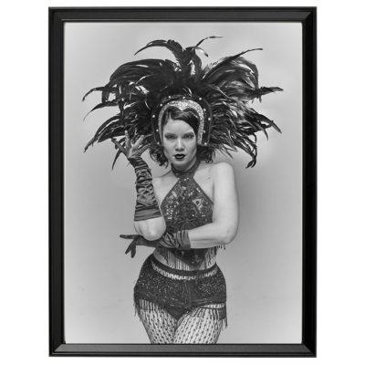 Bratislava Burlesque #3 - Dorota Holubová / foto print v ráme