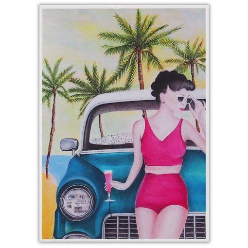 California dream - Katarína Branišová / pohľadnica