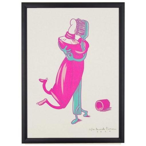 Čistá láska, ružová - Marek Cina / risografika