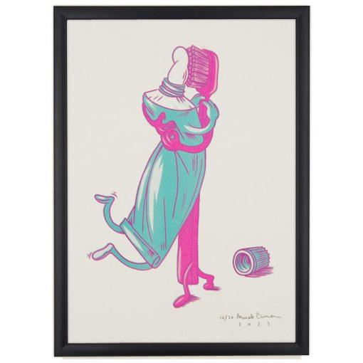 Čistá láska, tyrkysová - Marek Cina / risografika