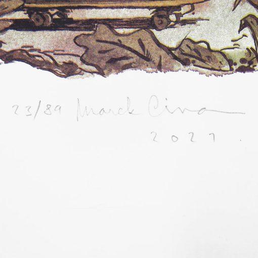 Puberta macka Uška - Marek Cina / risografika