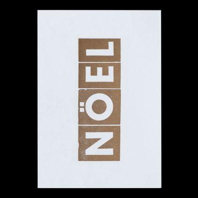 Noël, zlatý - Pressink Letterpress / pohľadnica