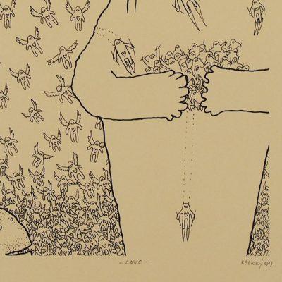 Love - Radoslav Repický, 33x25 cm / sieťotlač grafika