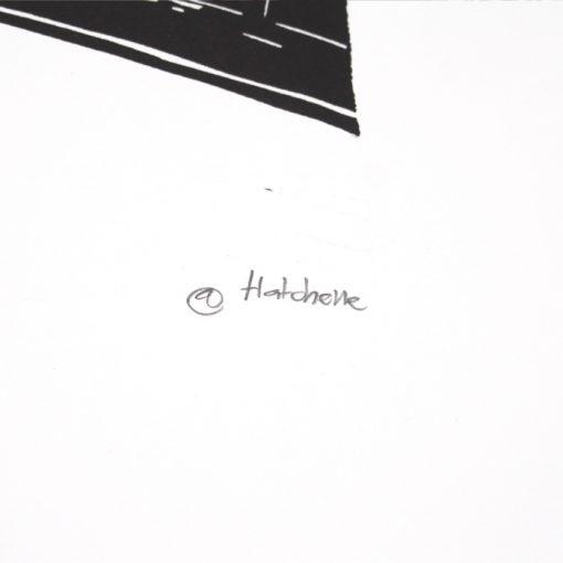 Paris - Tlatchene, 50 x 40 cm / linorytová grafika