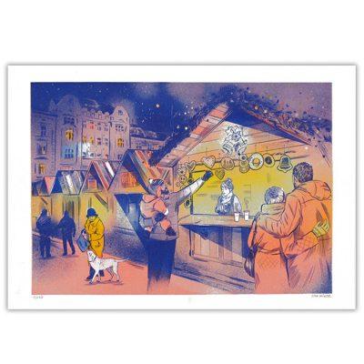 Vianočné trhy na Hlavnom námestí - Tina Minor / risografika