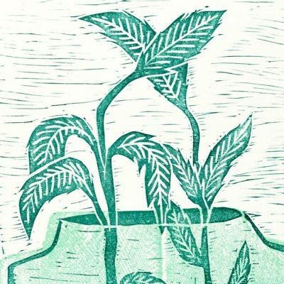 Byliny - Denisa Kollarova, 64 x 48 cm / linorytová grafika