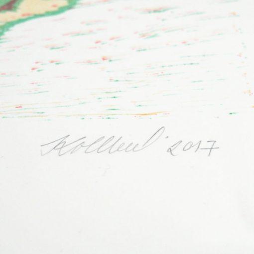 Kvety - Denisa Kollarova, 64 x 48 cm / linorytová grafika