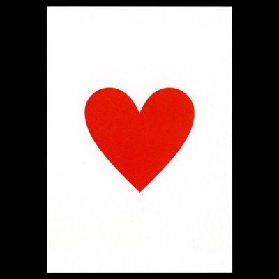 Srdce, červené - Pressink Letterpress / pohľadnica