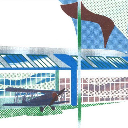 Vajnorské letisko - Agata Huzarska / risografika