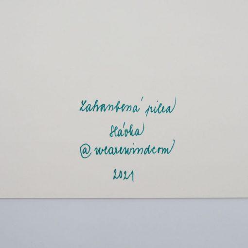 Zahambená Pilea - We are wind / grafika