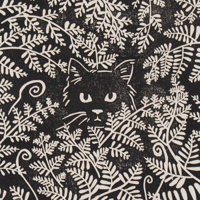 Zuzana Milánová - Nájdi mačku, 30x21 / linoryt grafika