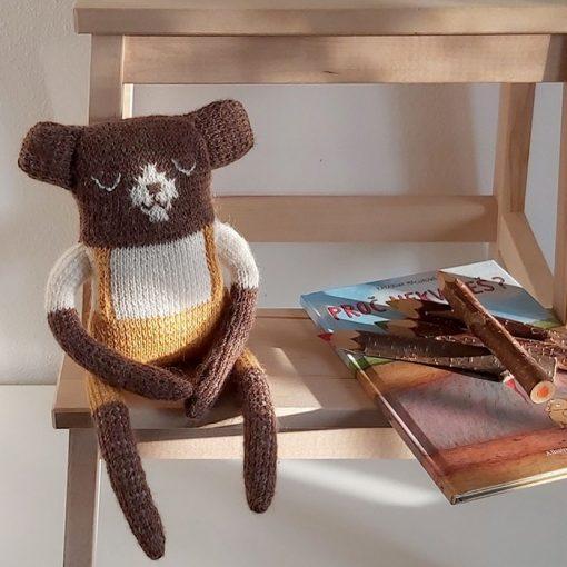 Medvedík Bobo / štrikovaná hračka