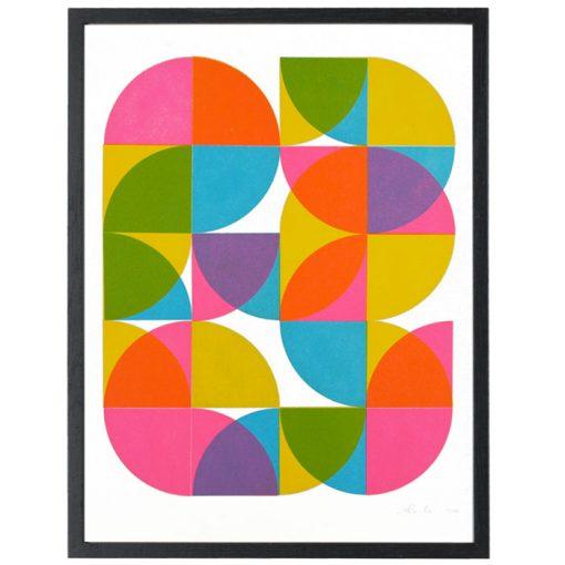 Quarter Circles I. - David Mascha, 31x40 cm / grafika