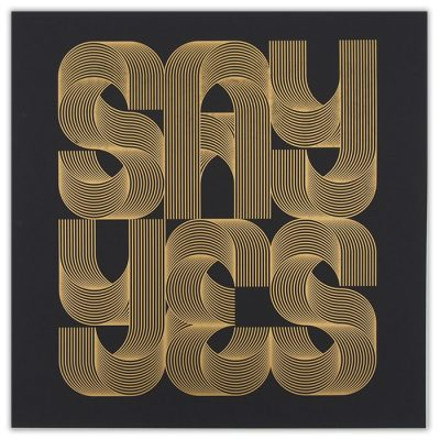Say Yes Gold - David Mascha, 38x39 cm / grafika
