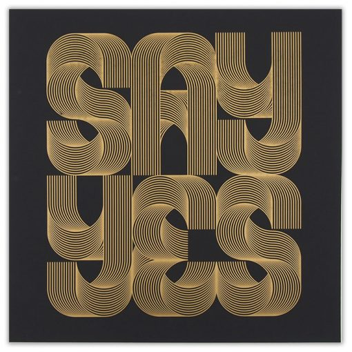 Say Yes Gold - David Mascha, 38x39 cm / grafika