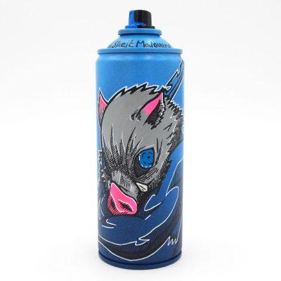 Demon Slayer: Inosuke - Na skejt maľované / spray can artwork