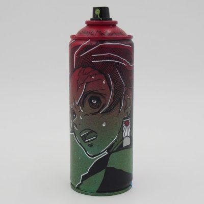 Demon Slayer: Tanjiro - Na skejt maľované / spray can artwork