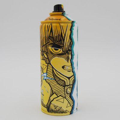 Demon Slayer: Zenitsu - Na skejt maľované / spray can artwork