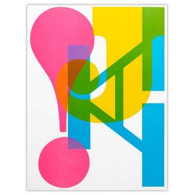 JA! - Pressink, 30x40 cm / grafika