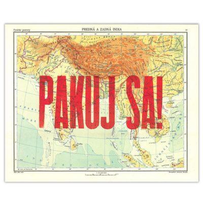 Pakuj sa!, Predná a zadná India - Pressink / letterpressová grafika