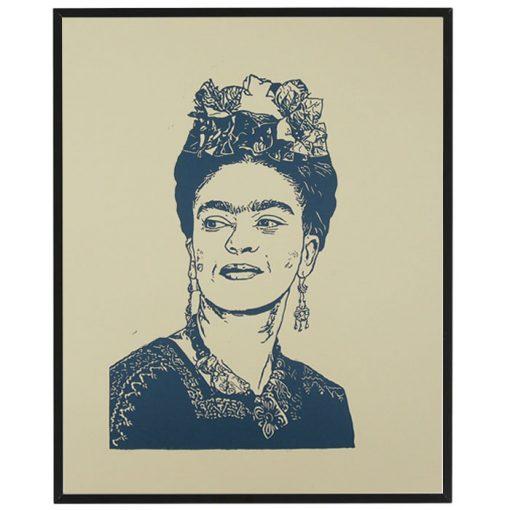 Frida, béžová - Tlatchene, 50 x 40 cm / linorytová grafika