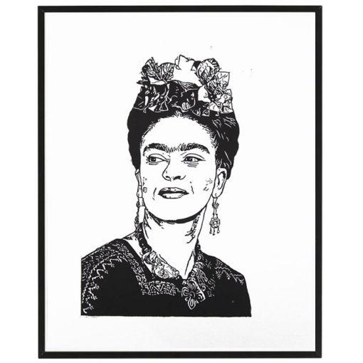 Frida - Tlatchene, 50 x 40 cm / linorytová grafika