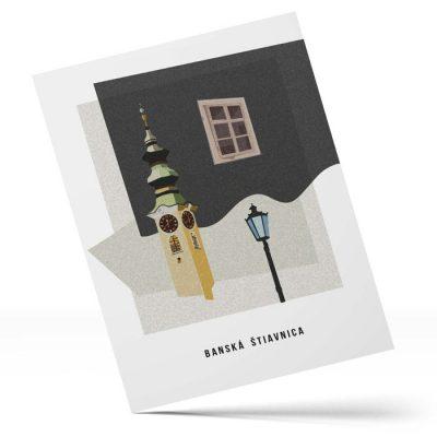 Banská Štiavnica, Dotyk histórie: Veža - Tovar BŠ / pohľadnica