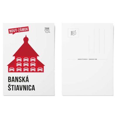Banská Štiavnica, Nový zámok-Parkovací dom - Tovar BŠ / pohľadnica