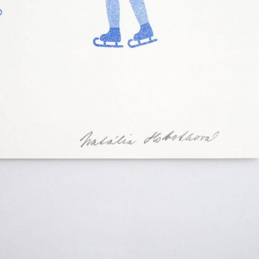 Zimná Bratislava - Natália Hobothová / risografika