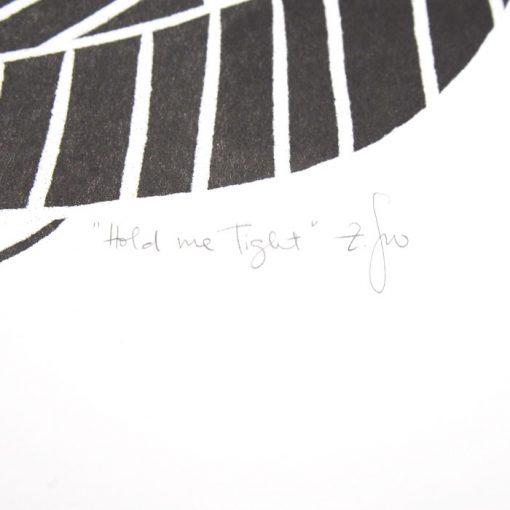 Hold me tight - Žužu Gálová / risografika