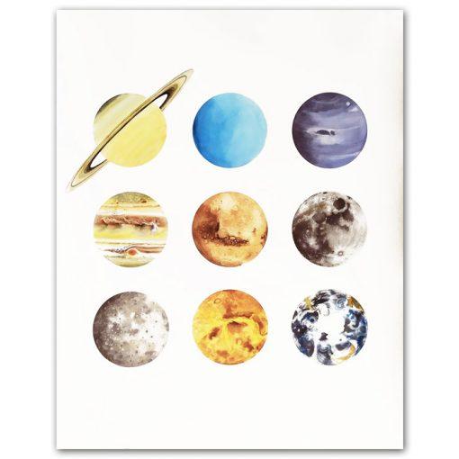 Lena Kollar - Neighbors light, 50x40 / giclée plagát