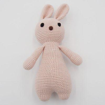 Háčkovaný Zajko, béžovo biely / detská hračka