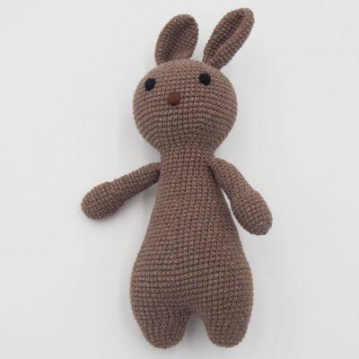 Háčkovaný Zajko, svetlo hnedý / detská hračka
