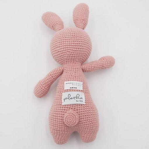 Háčkovaný Zajko, svetlo ružový / detská hračka