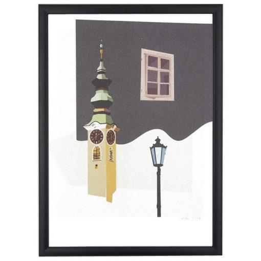 Banská Štiavnica: Veža - Jan Michoin / grafika