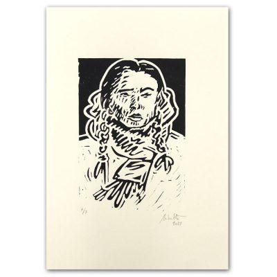 Chiara Némethová - Bratislavské copy, čierna, 21x14 / linoryt grafika