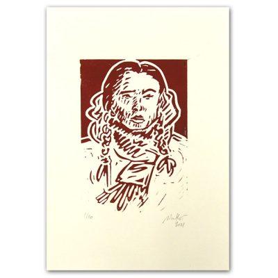 Chiara Némethová - Bratislavské copy, hnedá, 21x14 / linoryt grafika
