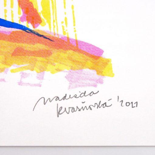Keramické komíny v Hlohovci - Nadežda Kvasňovská / risografika