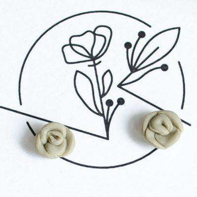 Roses - Earthy / náušnice