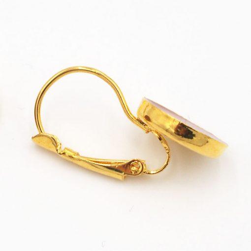 Gold Bud - kruh / živicové náušnice