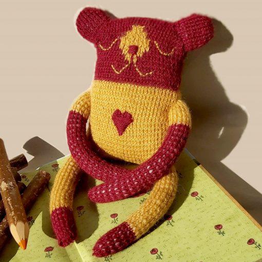 Medvedík Theodor / štrikovaná hračka