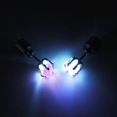 Turmalín – Firefly / svetelné náušnice