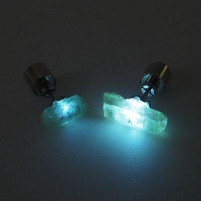 Zelený kyanit – Firefly / svetelné náušnice