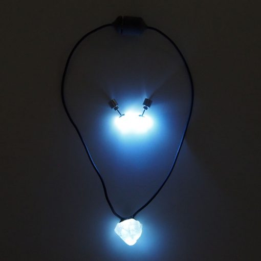 Chalcedón SET - Firefly / svetelný prívesok + náušnice