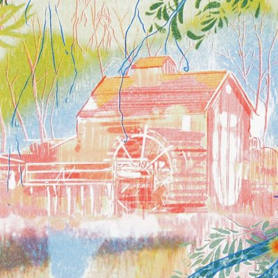 Vodný mlyn v Jelke - Georgia Green / risografika