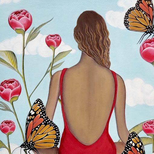 Inner garden - Katarína Branišová / grafika